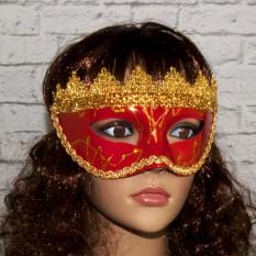 Венецианская маска Вероника (красная)