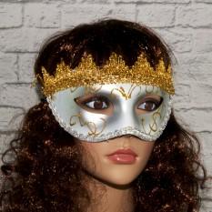 Венецианская маска Вероника (серебро)