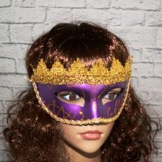 Венецианская маска Вероника (сиреневая)