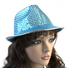 Шляпа Диско Твист (голубая)