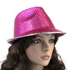 Шляпа Диско Твист (малиновая)