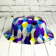 Шляпа Котелок пластик с принтом Абстракция