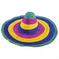 Шляпа Сомбреро 50см цветная