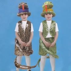 Маскарадный костюм Змея коричневая (размер М)
