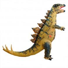 Надувной костюм Динозавр (коричневый)