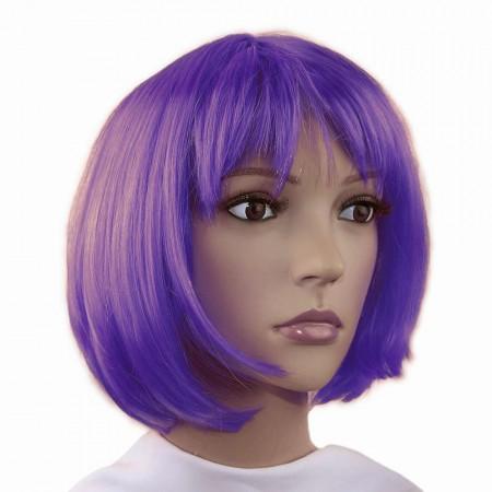 Парик Каре (фиолетовый) оптом