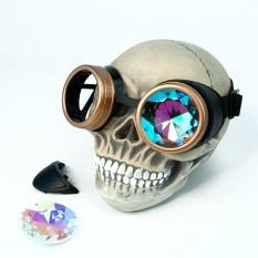 Очки Стимпанк Гогглы Калейдоскоп (черные с золотом) W-HJ181