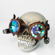 Очки Стимпанк Гогглы Калейдоскоп с подсветкой (медь антик) W-G194