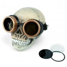 Очки Стимпанк Гогглы (черные с золотом) B-HJ182