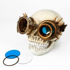 Очки Стимпанк Гогглы с моноокуляром (бронза антик) F-W405