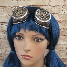 Очки Стимпанк Премиум с ажурными решетками (серебро)