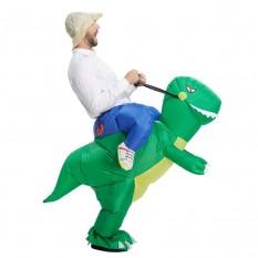 Надувной костюм Всадник на динозавре