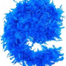 Боа из перьев 80г (синее)