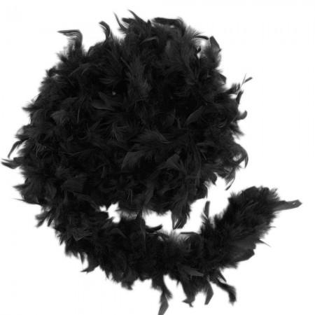 Боа из перьев 40г (черное)