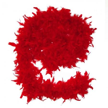 Боа из перьев 40г (красное)