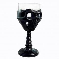 Бокал для вина Череп (черный)