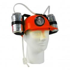 Шлем для пива с фонарем (красный)