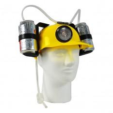 Шлем для пива с фонарем (желтый)