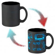 Чашка-хамелеон 66054 ЧРЖ Ferrari neon (черная)
