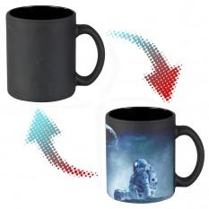 Чашка-хамелеон 66154 Моя Земля (черная)