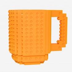 Кружка Лего конструктор (желтая)