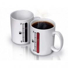 Чашка-хамелеон TANK UP с термометром