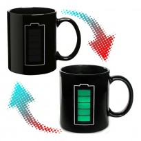 Чашка-хамелеон Батарейка (черная)