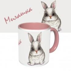 Чашка с принтом 64117 Милашка (розовая)