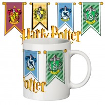 Чашка с принтом 63303 Гарри Поттер Гербы Хогвартса