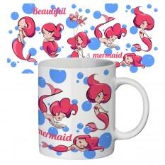 Чашка с принтом 63161 Красавица русалочка