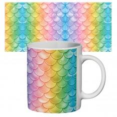 Чашка с принтом 63162 Радужная чешуя