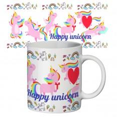 Чашка с принтом 63146 Счастливый единорог