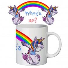 Чашка с принтом 63143 Единорог ДЭБ