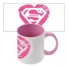 Чашка с принтом 64202 Супер Мама (розовая)