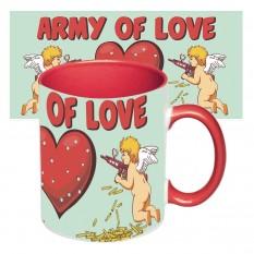 Чашка с принтом 64102 Армия любви (красная)