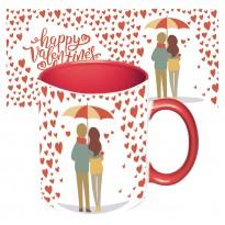 Чашка с принтом 64106 Романтика (красная)