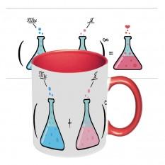 Подарочная чашка для влюбленных Ты + Я