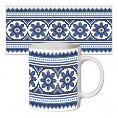 Чашка с принтом 63701 Вышиванка для него