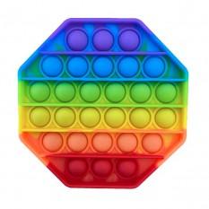 Антистресс игрушка Pop It 8-угольник радуга
