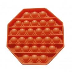 Антистресс игрушка Pop It 8-угольник оранжевый