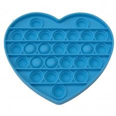 Антистресс игрушка Pop It Сердце голубое