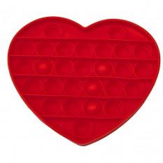 Антистресс игрушка Pop It Сердце красное