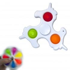 Антистресс игрушка Pop It Симпл Димпл Спинер Единорог (белый)