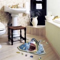 Интерьерная наклейка 3D Акула SK9023 90х60см