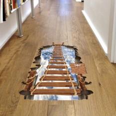 Интерьерная наклейка 3D Деревянный мост SK9167 90х60см