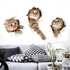 Интерьерная наклейка 3D Котята XH6215 40х40см