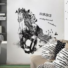 Интерьерная наклейка Черная Лошадь XL8346 90х60см