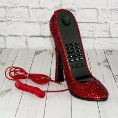 Телефон Туфелька со стразами красный