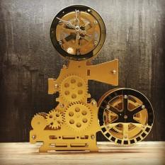 Часы Gear Clock Кинопроектор (золотой)