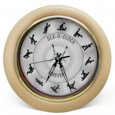 Настенные часы Камасутра большие (бежевый)